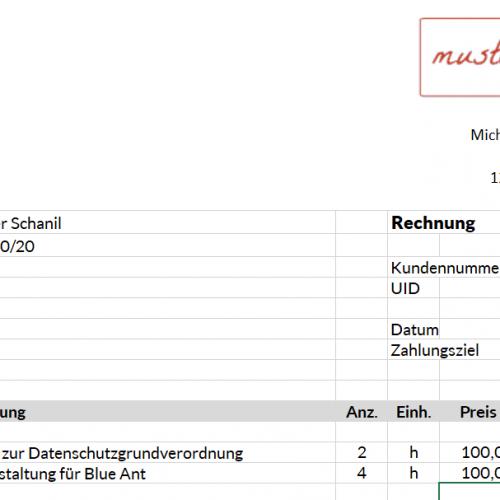 Rechnungsprogramm in Excel